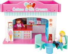Houten speelgoed ijssalon