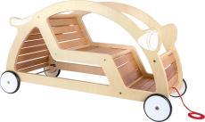 houten trekwagen wip en wagen in één