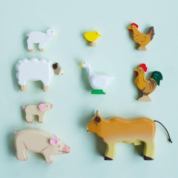 Houten boerderij dieren