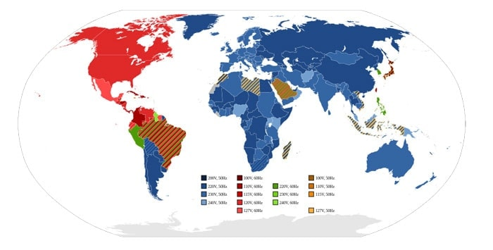 Viajar barato: Enchufes, voltajes y frecuencias por paises