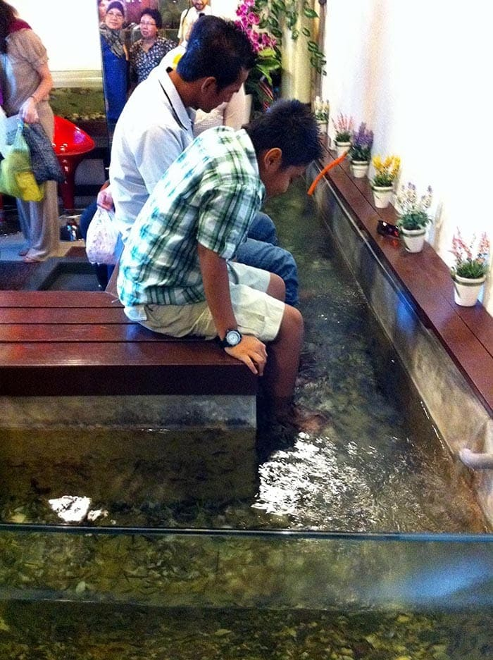 Fish Spa en Central Market, Kuala Lumpur