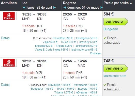 Los mejores comparadores de vuelos baratos (II)