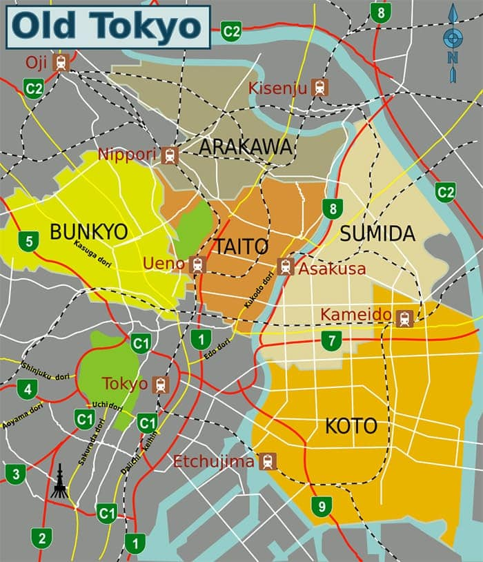 Mapa Tokio antiguo