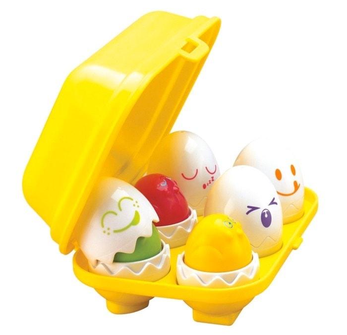 Tomy - Huevos encajables y formas - Sorprende a tu hijo con juguete nuevo: cómo hacer tu viaje más fácil