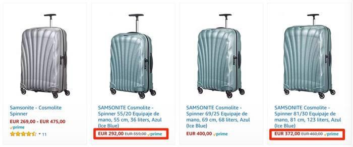 Maletas Samsonite rebajadas de precio: ofertas en varios sets de equipaje