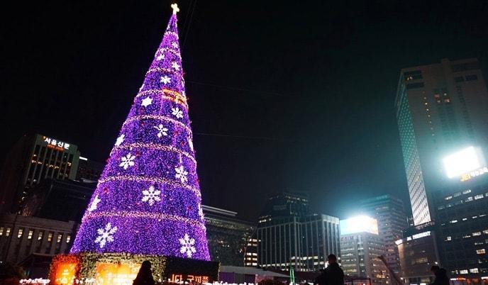 En Seúl celebran la navidad con más entusiasmo que en España