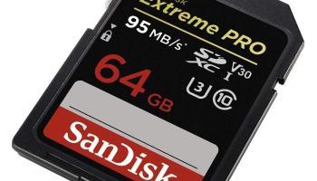 Tarjeta de Memoria SanDisk Extreme Pro SDXC de 64 GB con hasta 95 MB/s, Class 10 y U3 y V30
