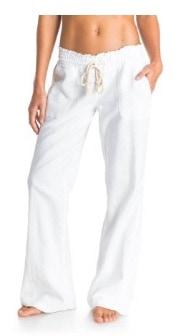 Roxy Oceanside Pant - Pantalones para mujer de lino