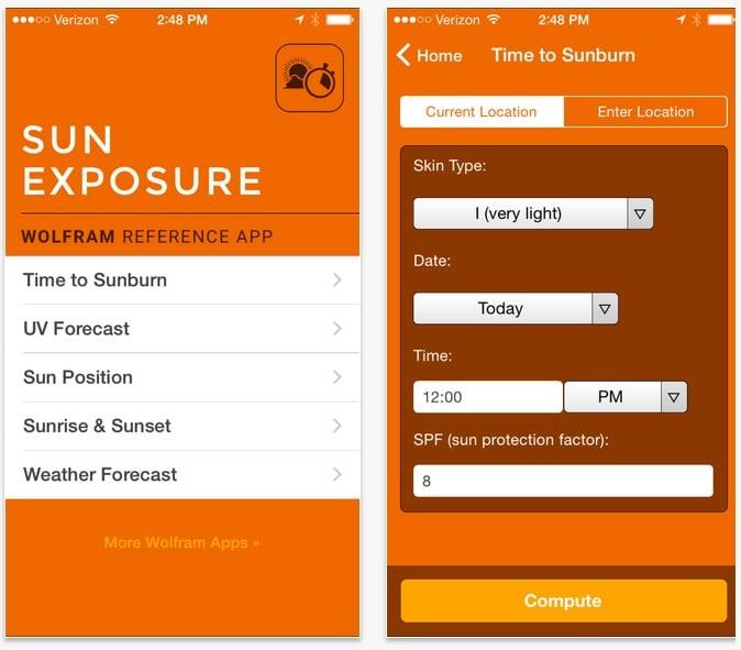 Wolfram Sun Exposure: la app que te protege de los rayos UV del sol