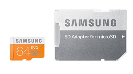 Samsung Evo MB-MP64DA/EU - Tarjeta de memoria micro SDXC de 64 GB