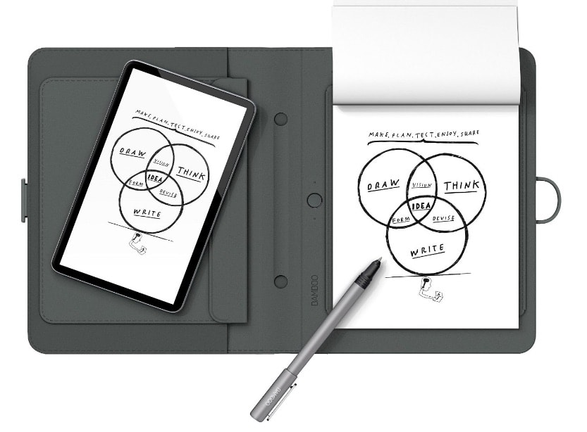 Wacom Bamboo Spark - Cuaderno digital Inteligente con funda para tablet