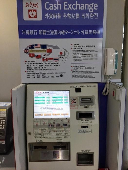 Maquina automatica para cambio a yenes