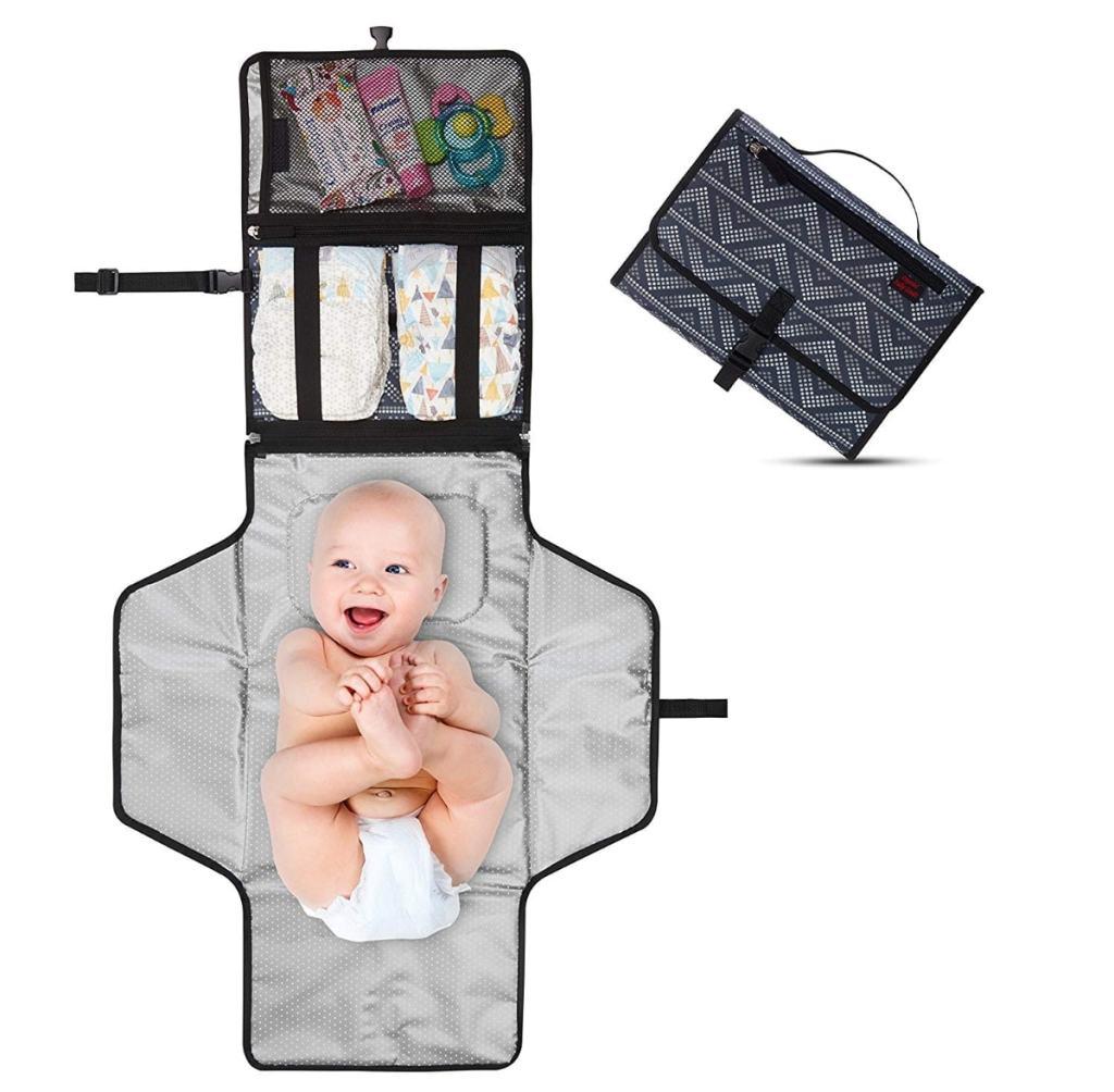 Cambiador Portátil de Pañales para Bebé - Kit Cambiador de Viaje