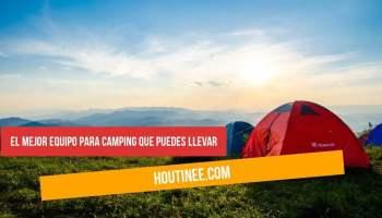 El mejor equipo para camping que puedes llevar