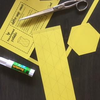 Printable vlakkenvaasje zelf maken