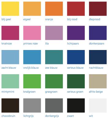 alle kleuren vinyl