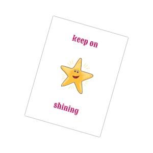 keep on shining een van de leuke kaarten van houtmoed