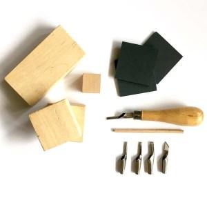 materiaal om stempels mee te maken