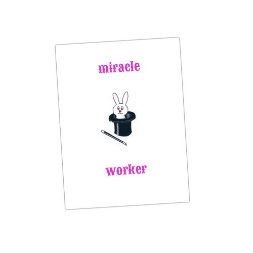 miracle worker een van de leuke kaarten van houtmoed