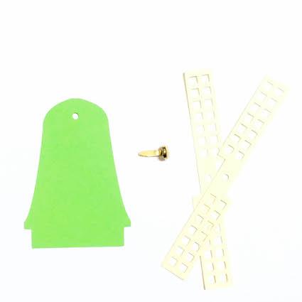 onderdelen voor de papieren molenslinger om zelf te maken