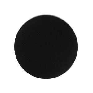 zwarte ronde onderzetters van vilt tegen kringen en krassen