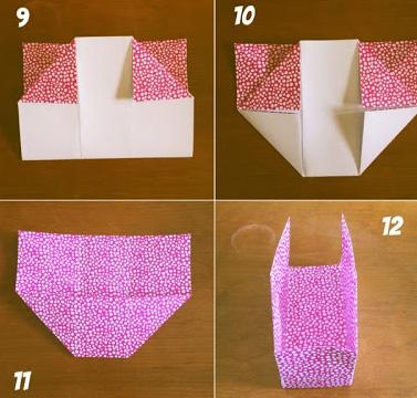 vouw je eigen origami bakje