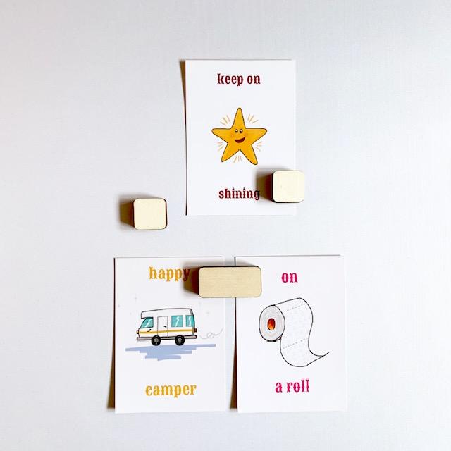 combineer plak en klak voor een design foto wand - alles handgemaakt van duurzaam hout