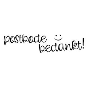 postbode bedankt - voorbeeld van de stempel afbeelding