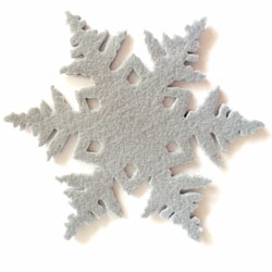 onderzetter in de vorm van een sneeuwvlok