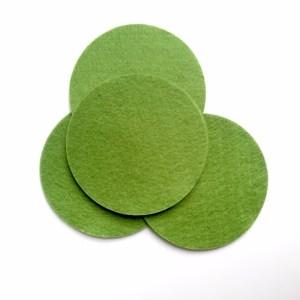 set ronde onderzetters in stijlvol en hip groen