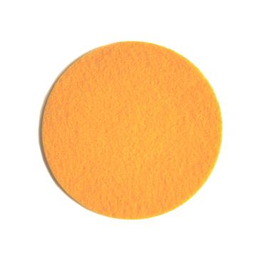 warm gele onderzetter handgemaakt van vilt