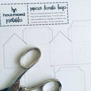 maak zelf papieren huisjes
