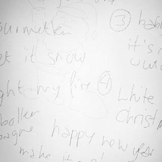 kerstkaart ontwerpen het eerste idee even wat woorden op papier
