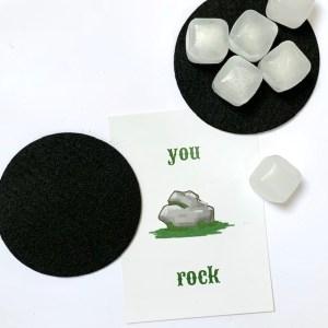 vaderdagkado you rock: leuke kaart, herbruikbare ijsklontjes en een set stoere onderzetters
