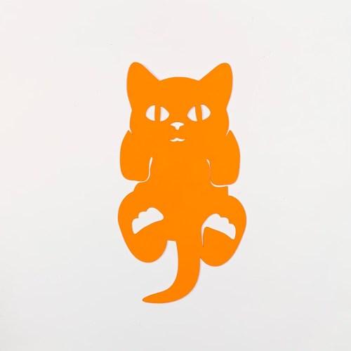 knipoog naar grote rode kater boekenlegger kitten