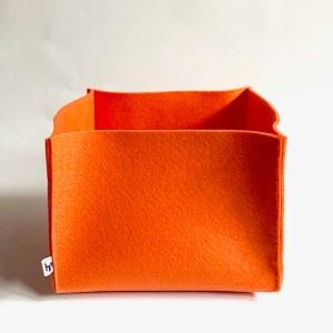 oranje vilten opbergmand large: gezellig en lekker ruim