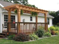 How to build a pergola over a concrete patio