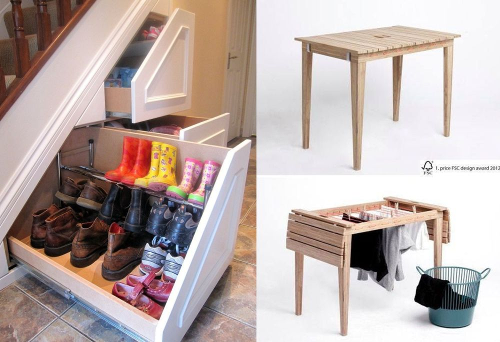Smart furniture for small spaces  handy solutions