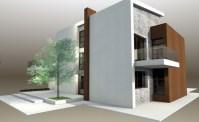 Protruding balcony modern house plans
