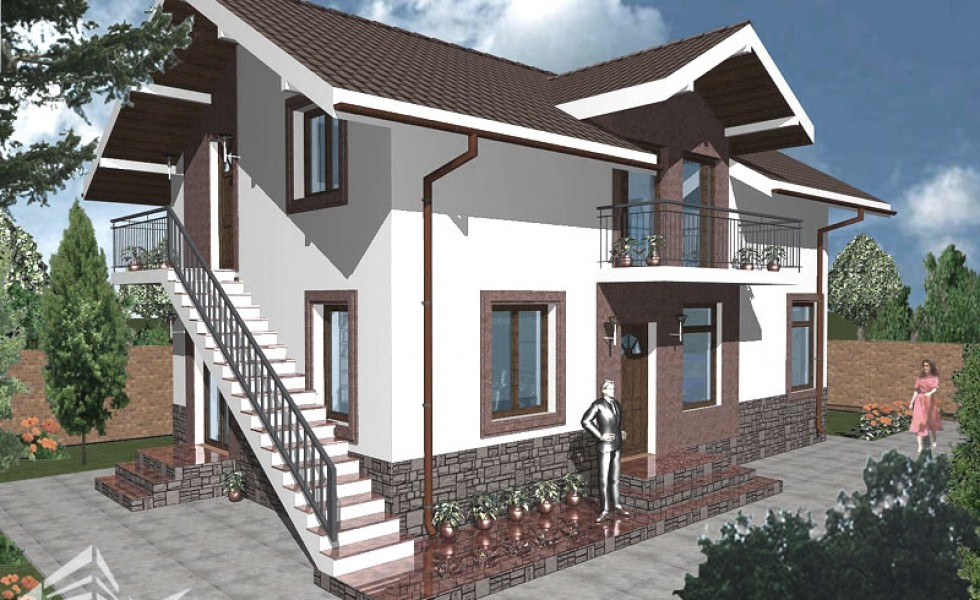 Attic Houses With Exterior Stairs Independent Spaces   Staircase Outside House Design   Bungalow   40X30 House   Duplex   Landscape   Exterior