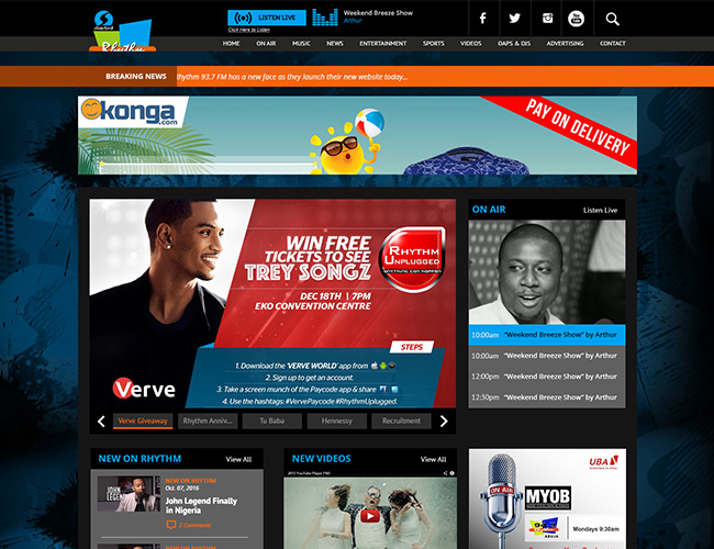 Rhythm FM | Website Design Nigeria
