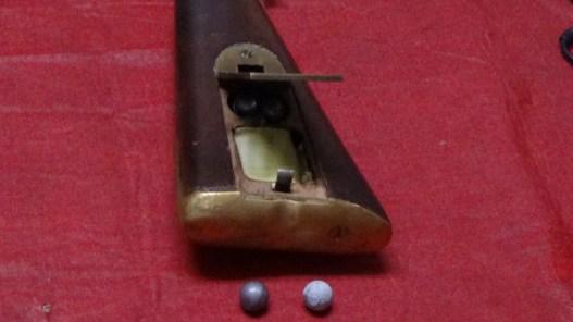 Installed latch on Brunswick rifle