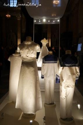 Ruotsin kruununprinsessa Victorian hääpuku, kuninkaalliset hääpuvut, kuninkaallinen hääpukunäyttely, Kungliga brudklänningar, Tukholma, morsiuslapset