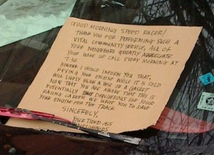 speedracer windshield note