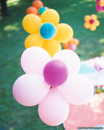 Flower party decorations