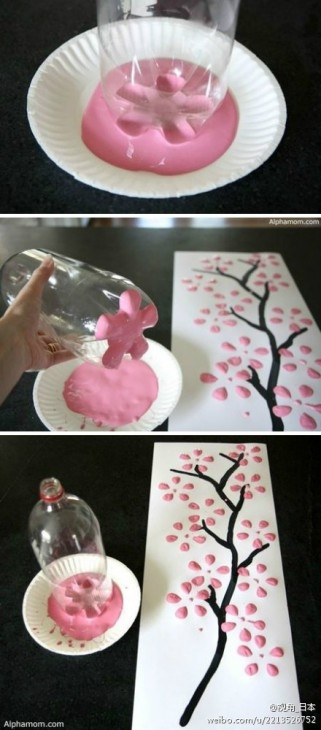 DIY Sakura painting
