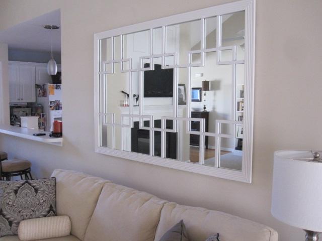 DIY Trellis Mirror