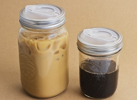 Plastic drinking lid for mason jar- how I bring my coffee and tea around in the