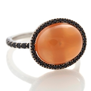 Rarities–Peach Moonstone and Black Spinel