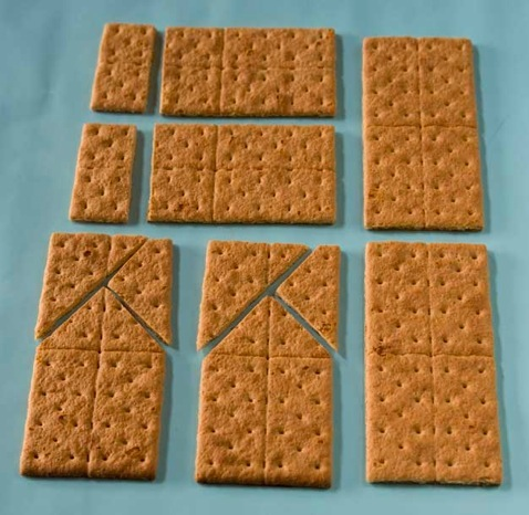 Instructions for making a Graham Cracker Gingerbread House